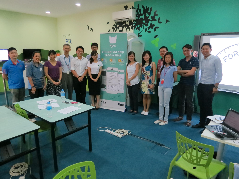 Miao at EduLab @ Academy of Singapore Teachers!